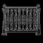 Элементы заборов, ворот, калиток, оград, балконов, лестниц, разделения ландшафтных зон