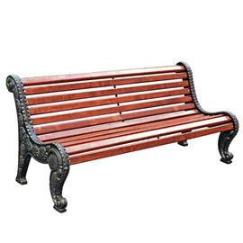 Городская роща - чугунная скамейка без подлокотников