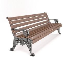 Белые ночи - чугунная скамейка с подлокотниками