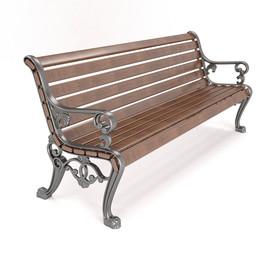 Гефест - чугунная скамейка с подлокотниками