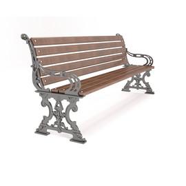 Ампир - скамейка чугунная с подлокотниками