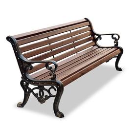 Аллея - чугунная скамейка с подлокотниками